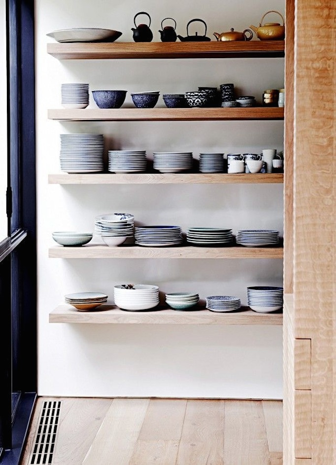 New rustic owens and davis - Modern kitchen shelving ...