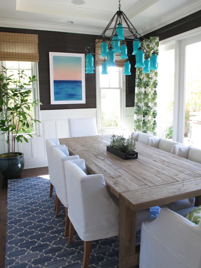 Designer spotlight amber interiors - Rug dining room and interior ...