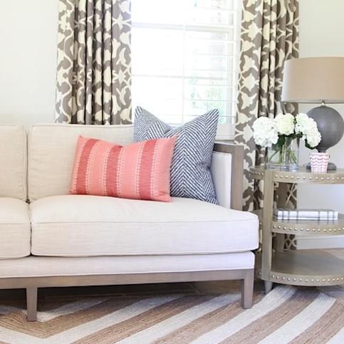 Calmo Living Room Becki Owens Chevron Jute Rug