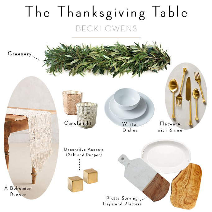 the Thanksgiving Table, Table Decor Becki Owens
