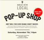West Elm Pop Up Shop