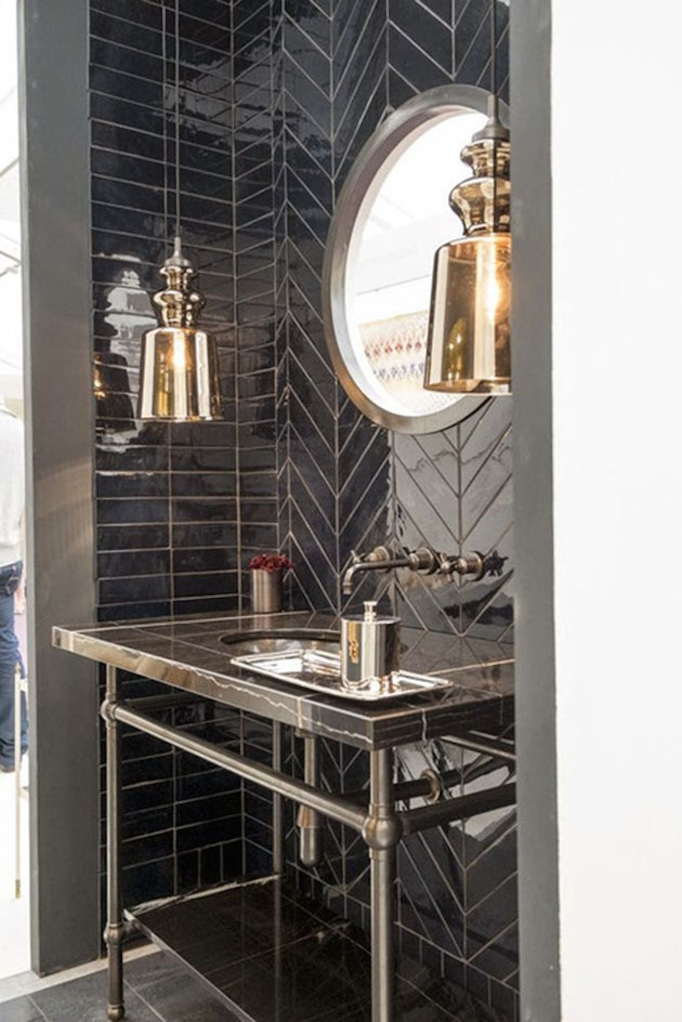 Beautiful bathroom ideas becki owens - Powder room tile ideas ...