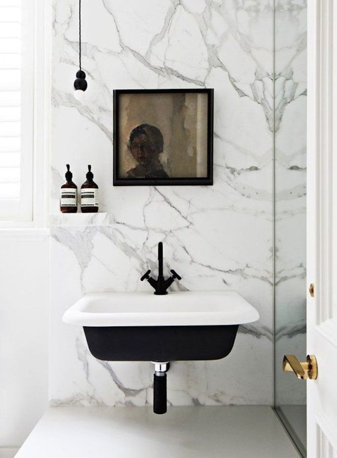 Black beauties a look at black facuets for Bathroom romance photos