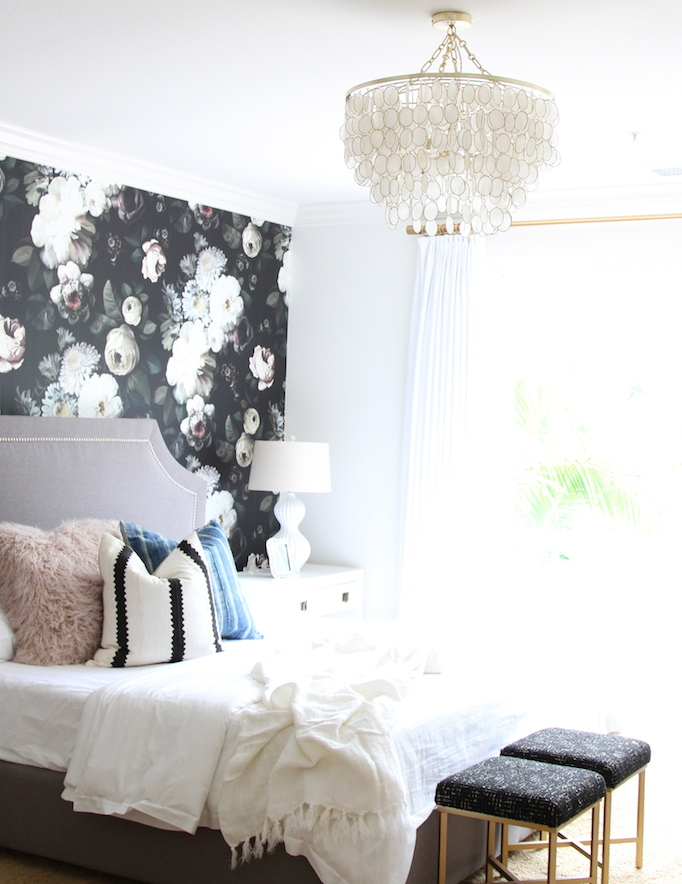 capiz chandelier bedroom