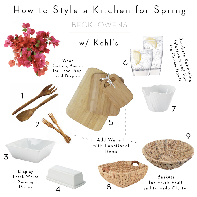 how to style a kitchen for spring