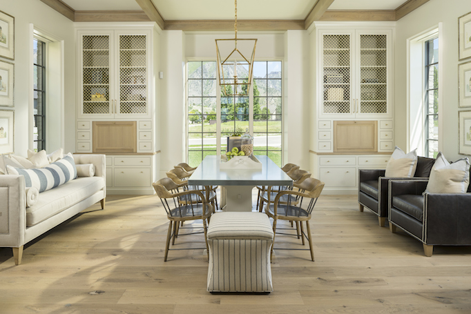 classical modern brick home study