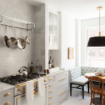 Marble, Gray and Brass Kitchen