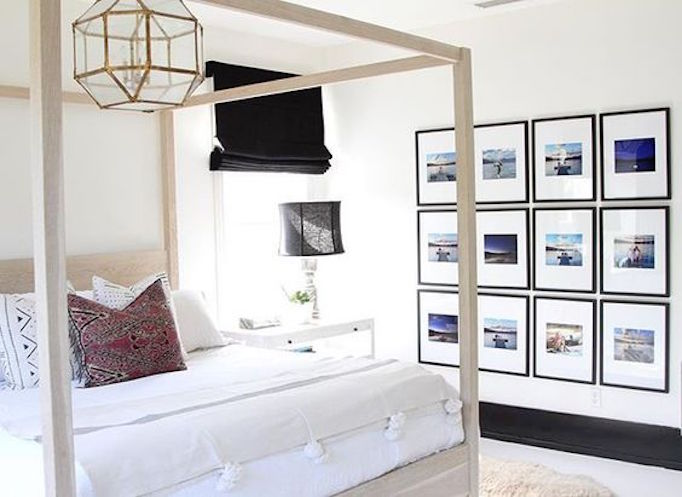 Becki Owens Bedroom with Gallery Wall