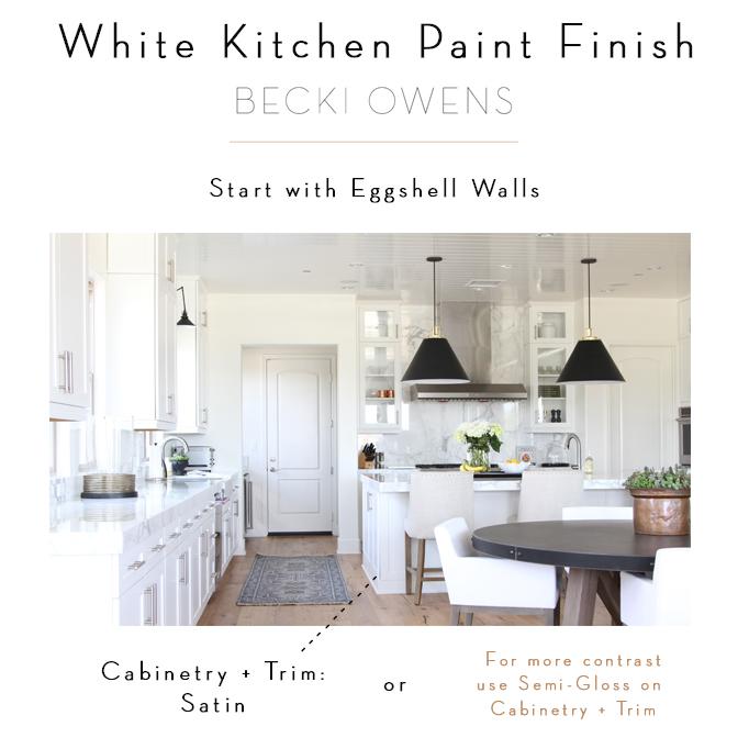 white kitchen paint finish