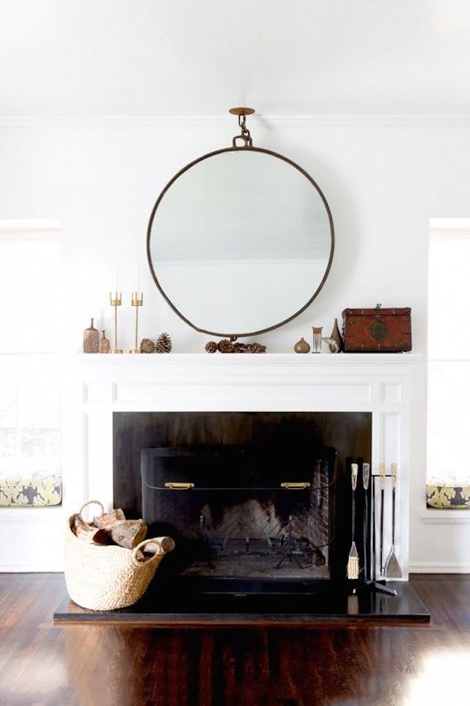 10 fixes for and outdated fireplace becki owens for Fireplace mirrors