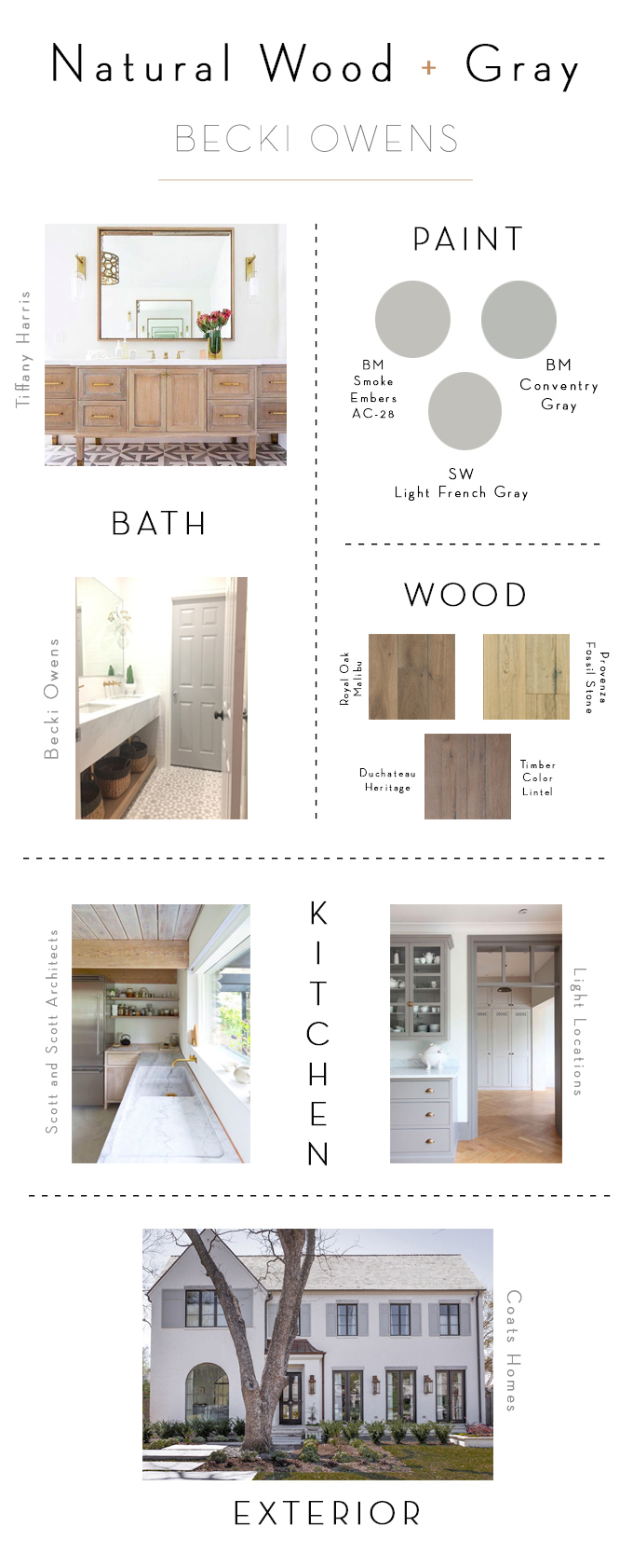 natural wood and gray color combination