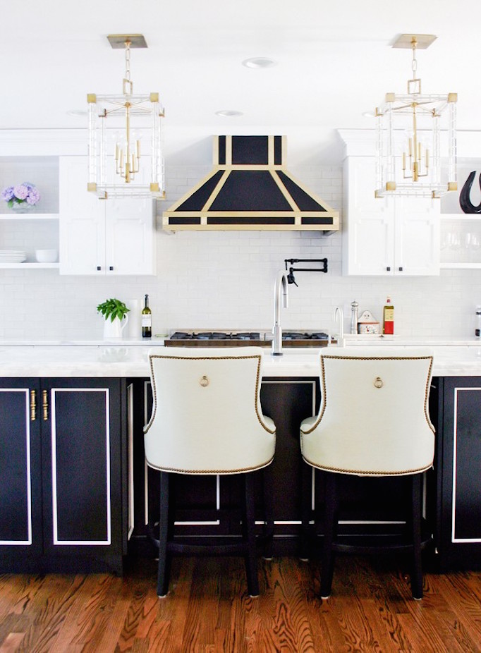 BECKI OWENS Lucite Pendants in Kitchen