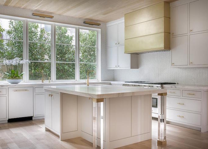 BECKI OWENS Lucite and Brass Kitchen Detail
