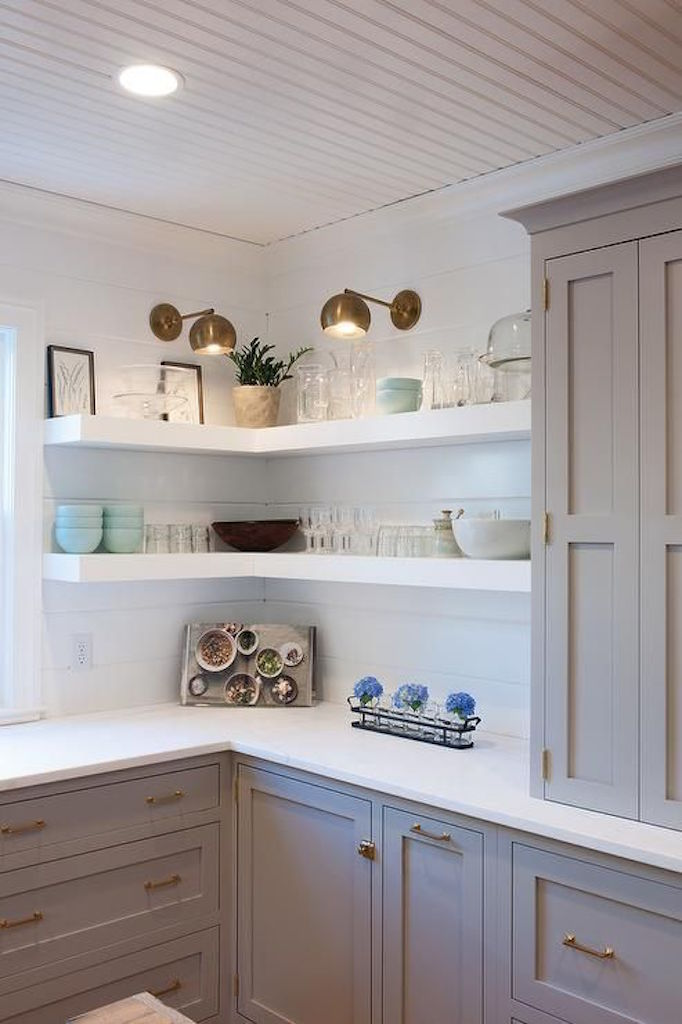 BECKI OWENS White Open Shelving