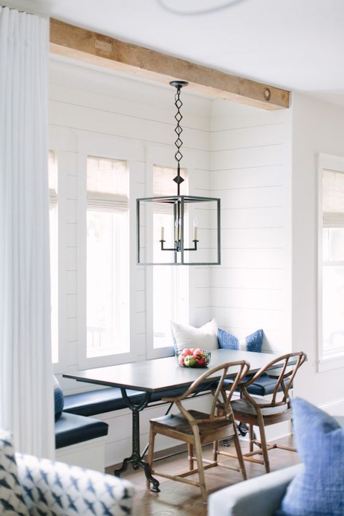 10 ways to use the shiplap lookbecki owens for Banquette salle de bain