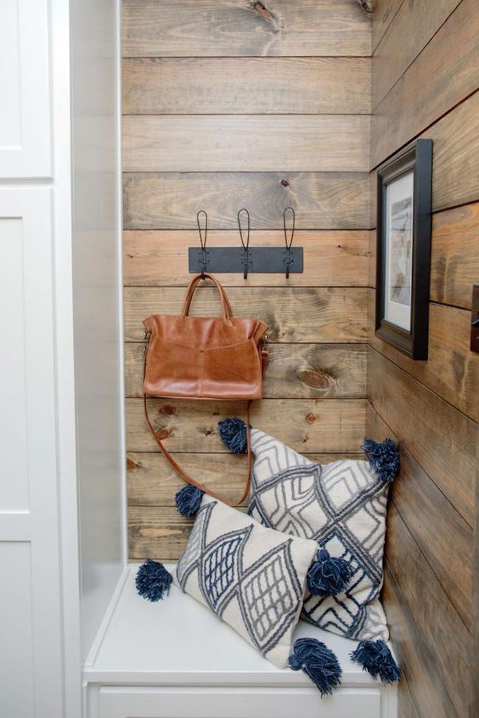 BECKI OWENS Shiplap Mudroom Nook