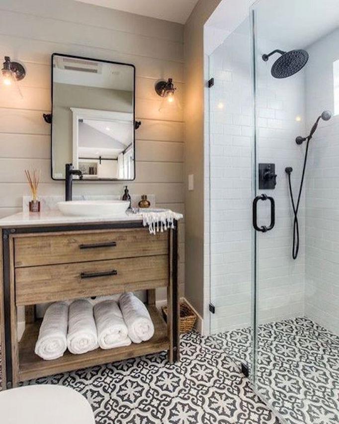 25 fresh farmhouse bathroomsbecki owens for Houzz bathroom design guide