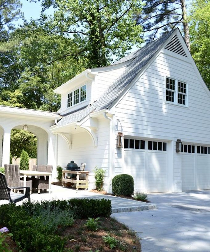 Detached Garage: Spring Curb Appeal: Gorgeous Garage DoorsBECKI OWENS