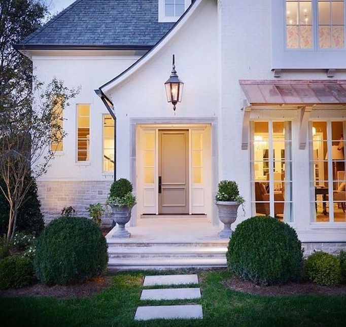 Best Exterior Home Design 2017: Spring Curb Appeal: Painted Front Doors + Paint GuideBECKI