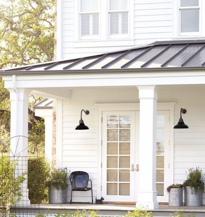 Front Porch Swings Farmhouse Exterior: 8 Pretty Ideas For Front Porch Plants