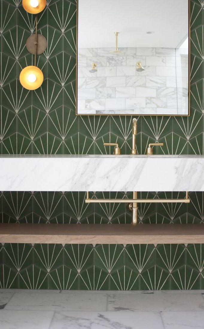 Cement Tiles Bathroom 34 Bathroom With Villa Lagoon Tile