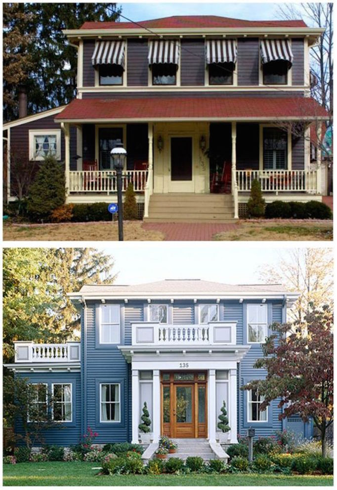Exterior renovations before and after home design - Home exteriors before and after ...
