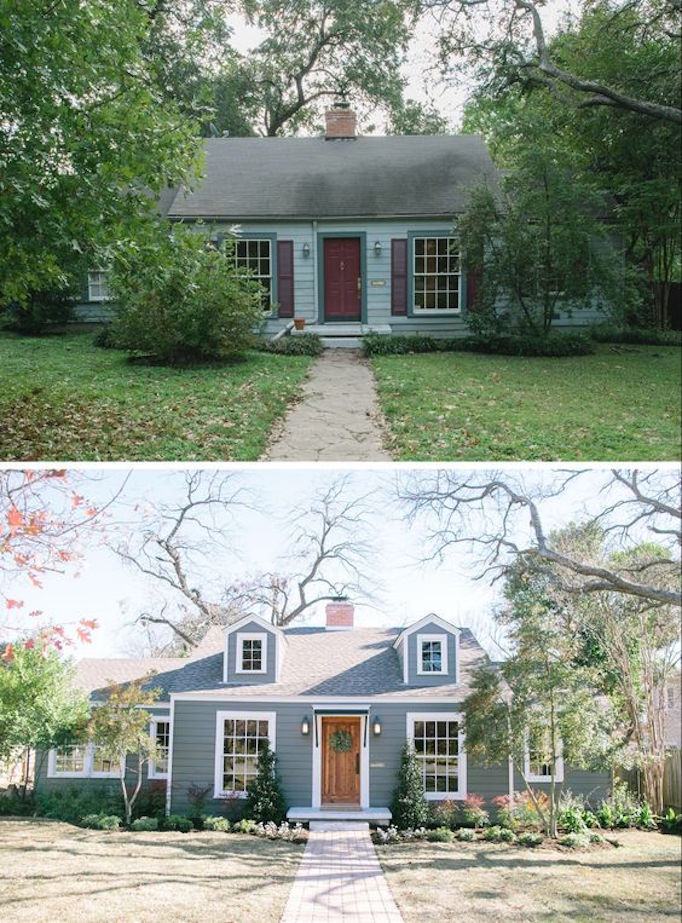 10 inspiring before and after exterior makeoversbecki owens for Before and after home exteriors remodels