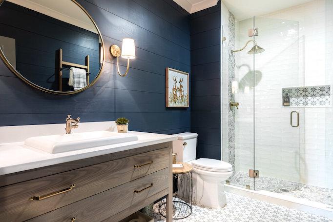 Reclaimed Wood Wall Bedroom Gray