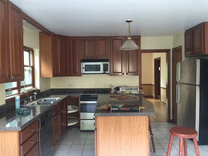 astounding kitchen lighting before after | Before + After: 7 Amazing Kitchen TransformationsBECKI OWENS