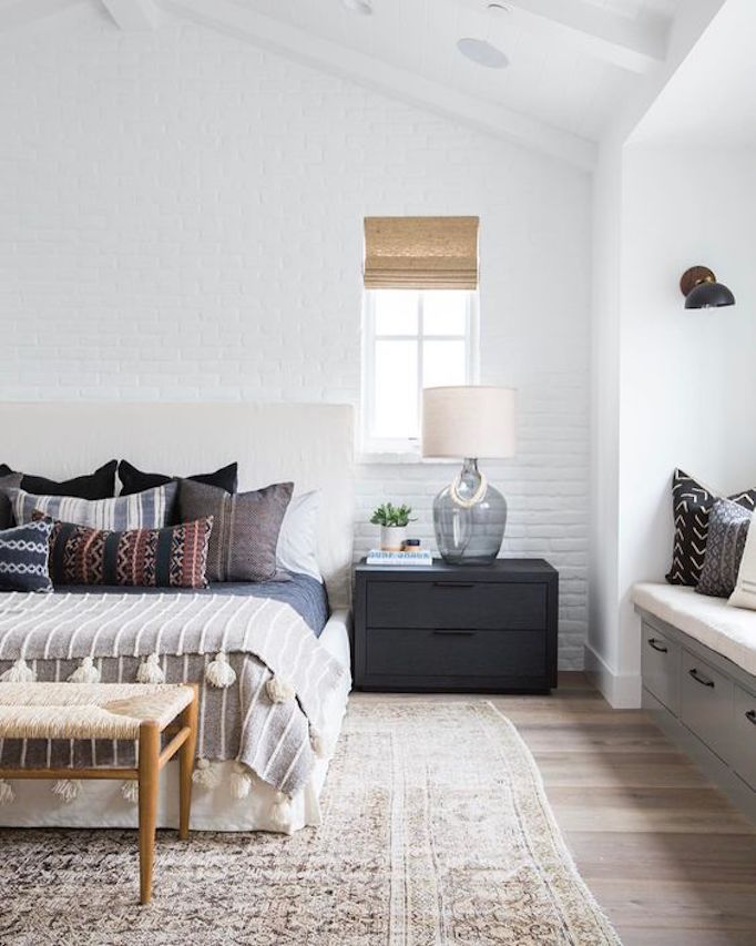 Design trend exposed brickbecki owens for Brick accent wall bedroom