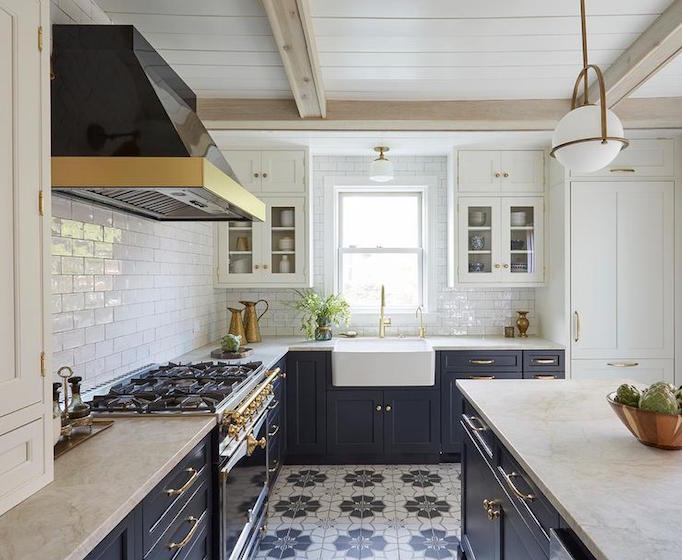 Kitchen design inspiration 3 blue beautiesbecki owens for Cement tiles for kitchen