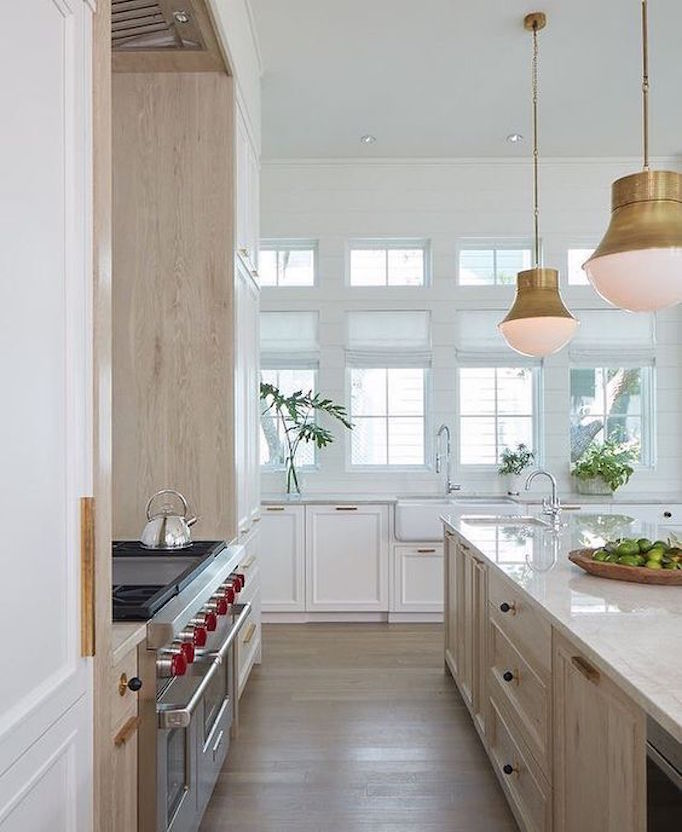 Blue Kitchen Paint Colors With Oak Cabinets Nameahulu: Design Trend 2018: Two Toned KitchensBECKI OWENS