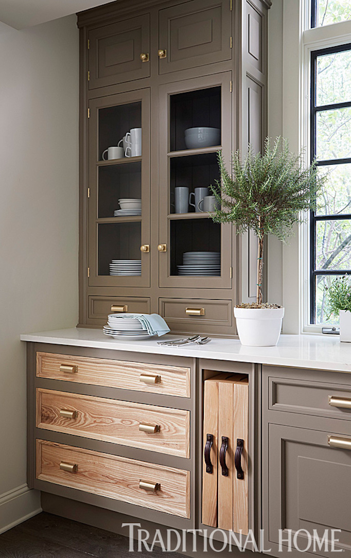 Two Tone Kitchen Cupboards Becki Owens