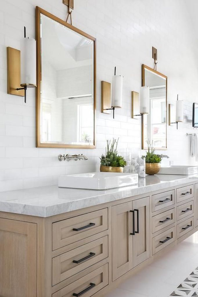 Bathroom Trend Warm Wood Vanitiesbecki Owens