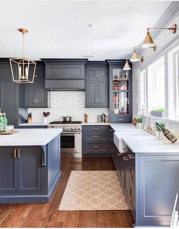 10 inspiring non white kitchensbecki owens. Black Bedroom Furniture Sets. Home Design Ideas