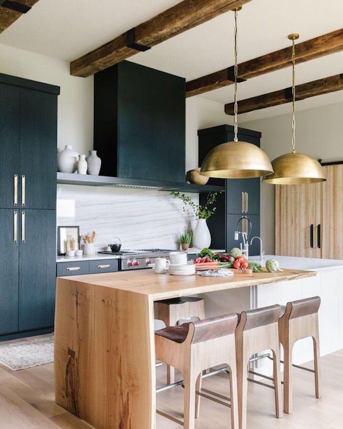 The 2019 modern farmhousebecki owens - Black and wood kitchen ...