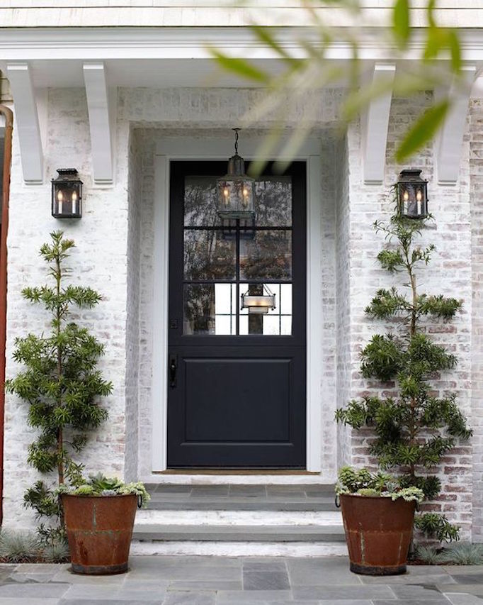 8 Pretty Ideas For Front Porch Plants Becki Owens: curb appeal doors