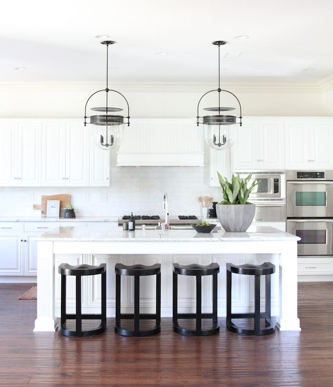Coastal White Kitchen w/ Urban Electric