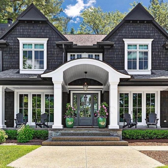 Gorgeous Updated Classic Home: Spring Curb Appeal: Front Porch PlantersBECKI OWENS
